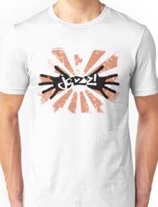 Jazz Hands - Orange and Black Unisex T-Shirt
