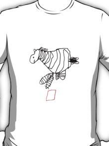 zebra jumping over red box T-Shirt