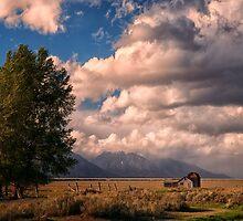 Mormon Row and Teton Mountains by KellyHeaton