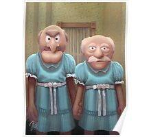 Muppet Maniac - Statler & Waldorf as the Grady Twins Poster
