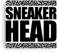 Sneakerhead -Black Out Cement Canvas Print