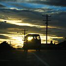 Sunset with van on crest by Mark Will