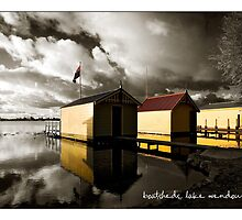 boatsheds, lake wendouree by Craig Holloway