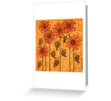 'Fire Blooms' - happiness in paint! Greeting Card