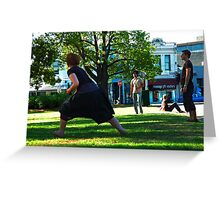 Frisby in the Park - Australia Day Greeting Card