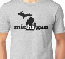 Hi From Michigan - Black Unisex T-Shirt