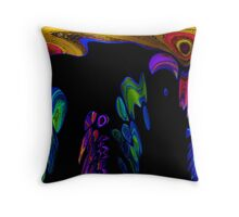 Dripping Color Abstract Throw Pillow