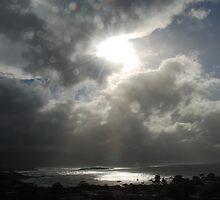 Cloudscape above Diamond Island, Tasmania. by Hayley Joyce