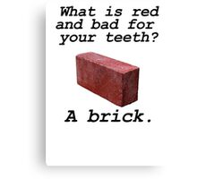 Brick anti joke Canvas Print