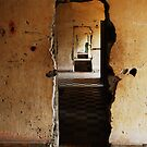 Doorways of S-21, Phnom Penh, Cambodia. by Hayley Joyce