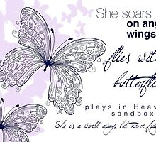She Soars On Angel Wings by Franchesca Cox