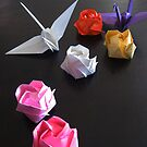 Origami Paper Cranes by Midori Furze