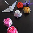 Origami Paper Cranes by Midori Furze