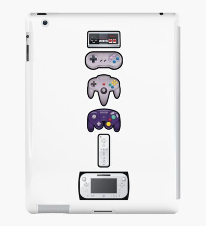 Evolution of Nintendo controllers iPad Case/Skin