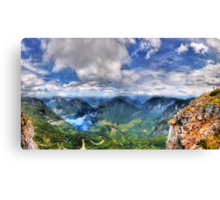 5 Fingers - Krippenstein (Austria) - 36 shot HDR Panorama Canvas Print