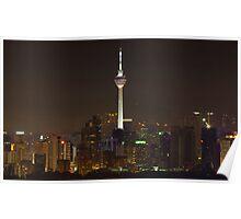 Kuala Lumpur Tower By Night Poster