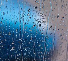 Blue Drops by Vahid Meskoob