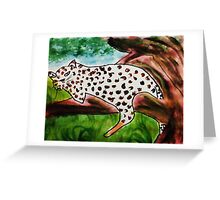 The Leopard, for Africa Series, watercolor Greeting Card