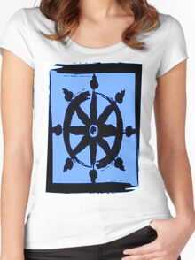 Wheel of dharma Women's Fitted Scoop T-Shirt