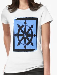 Wheel of dharma Womens Fitted T-Shirt