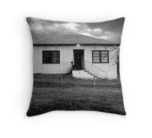 Mowatt St dwelling with porch light Throw Pillow