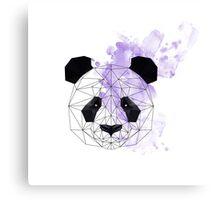 Purple Poly Panda Canvas Print