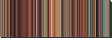 Moviebarcode: Spirited Away (2001) [Simplified Colors] by moviebarcode