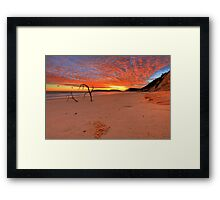 Double Island Sunrise Framed Print