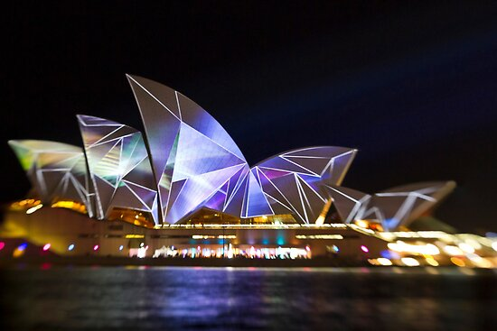 Fractured Sails - Sydney Vivid Festival - Sydney Opera House by Bryan Freeman