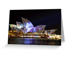 Fractured Sails - Sydney Vivid Festival - Sydney Opera House Greeting Card