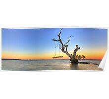 Sunrise Swing at Inskip Poster