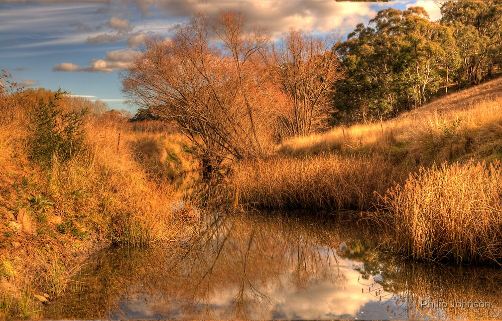 Watercolours - Somewhere near Oberon NSW Australia - The HDR Experience by Philip Johnson