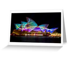 Sail Streamers - Sydney Vivid Festival - Sydney Opera House Greeting Card