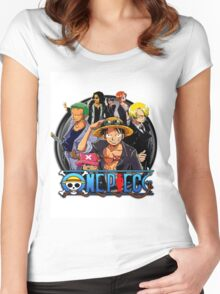 onepiece crew Women's Fitted Scoop T-Shirt