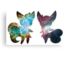 Meowstic (Male and Female) Canvas Print
