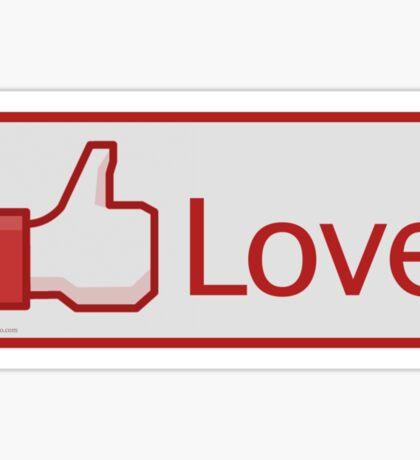 Love Button Sticker