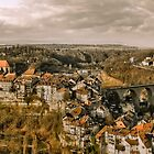 View of Fribourg, Switzerland by Clint Burkinshaw