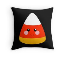 Kawaii Candy Corn Throw Pillow