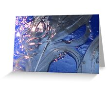 wet swirl and blue drip Greeting Card