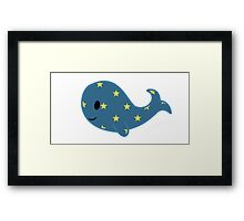 Starry Whale Framed Print
