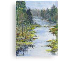 Middle River, South Shore, Nova Scotia Canvas Print
