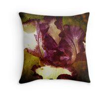 A Manipulated Iris Throw Pillow
