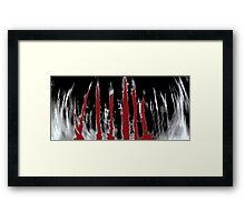Blood Forrest Framed Print