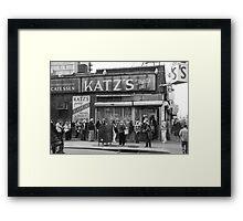 Katz Deli Framed Print