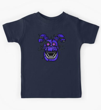 Five Nights at Freddys 4 - Nightmare Bonnie - Pixel art Kids Tee