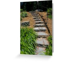 Garden Stone Stairway By Jonathan Green Greeting Card