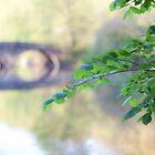 Park with stone bridge. by Edward Mahala