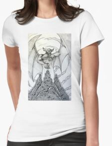 Chernabog in Night on Bald Mountain Womens Fitted T-Shirt