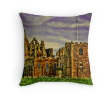Whitby Abbey.. Throw Pillow
