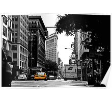 In the streets of NYC Poster
